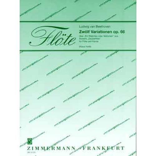 ZIMMERMANN BEETHOVEN LUDWIG VON - ZWOLF VARIATIONEN OP.66 UBER