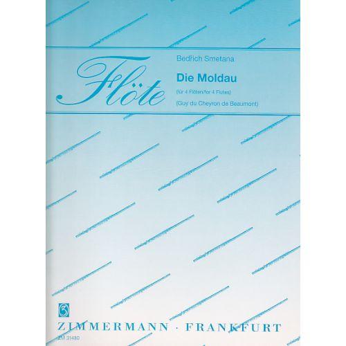 ZIMMERMANN SMETANA BEDRICH - DIE MOLDAU - 4 FLUTES