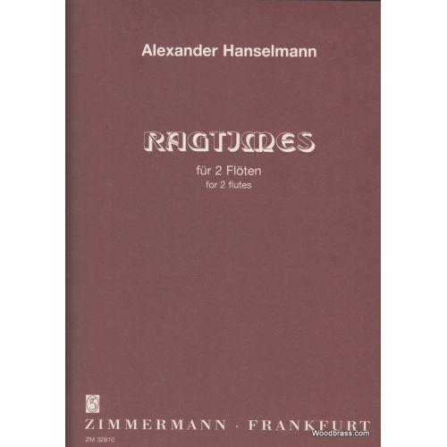 ZIMMERMANN HANSELMANN A. - ZWEI RAGTIMES - 2 FLUTES