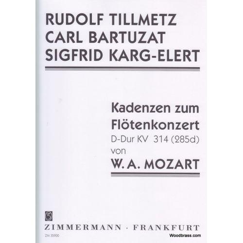 ZIMMERMANN MOZART W. A. - KADENZEN ZUM FLÖTENKONZERT KV 314 (285d)
