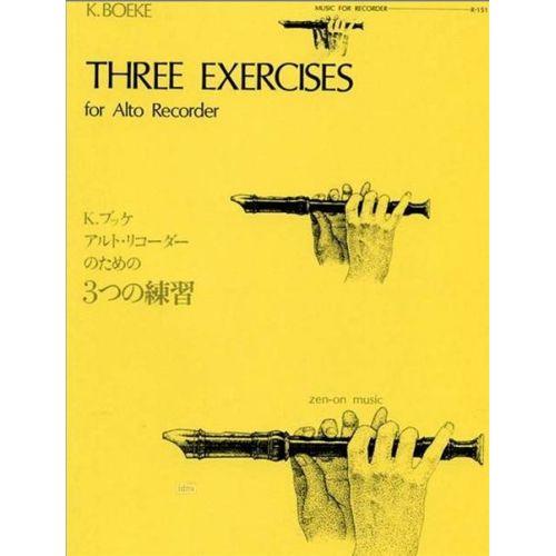 ZEN ON BOEKE KEES - THREE EXERCISES- FLUTE A BEC ALTO