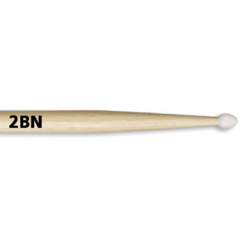 VIC FIRTH 2BN - AMERICAN CLASSIC HICKORY OLIVE NYLON -