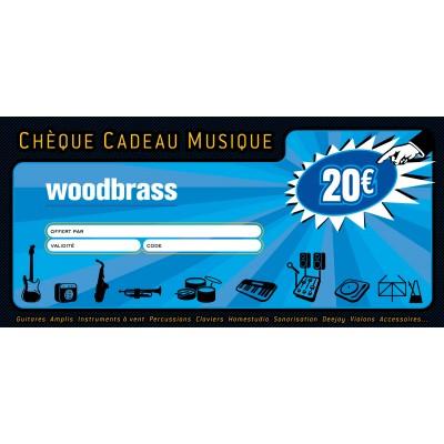 Carte Cadeau Woodbrass.Woodbrass Club Cheque Cadeau 20 Euros Pour Faire Plaisir Sans Se Tromper