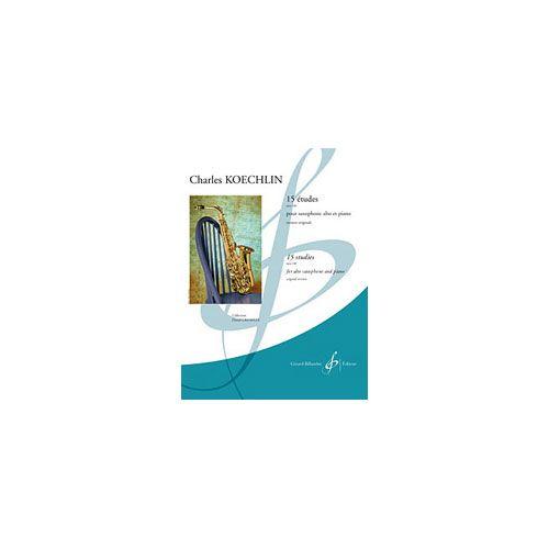 BILLAUDOT KOECHLIN CHARLES - ETUDES - SAXOPHONE MIB, PIANO