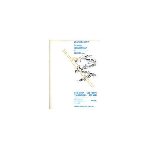 BILLAUDOT KOECHLIN C - SILHOUETTES DE COMEDIE OP.193 - BASSON & PIANO