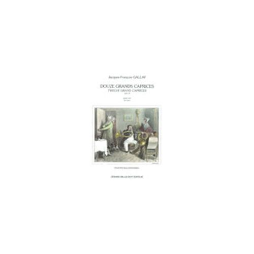BILLAUDOT GALLAY JACQUES-FRANCOIS - 12 GRANDS CAPRICES OP.32 - ETUDES