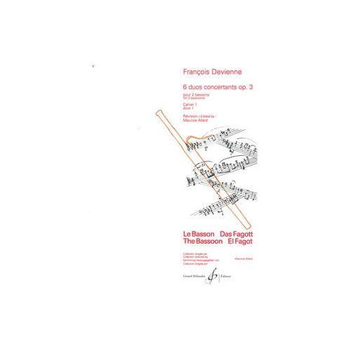 BILLAUDOT DEVIENNE FRANCOIS - 6 DUOS CONCERTANTS VOLUME 1 - 2 BASSONS