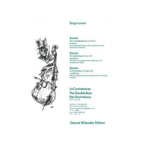 BILLAUDOT LANCEN SERGE - SONATE - CONTREBASSE ET PIANO
