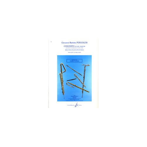 BILLAUDOT PERGOLESE G.B. - CONCERTO EN SOL MAJEUR - FLUTE, PIANO