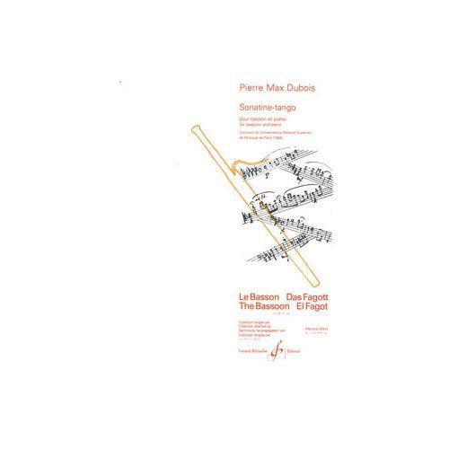 BILLAUDOT DUBOIS PIERRE-MAX - SONATINE TANGO - BASSON ET PIANO