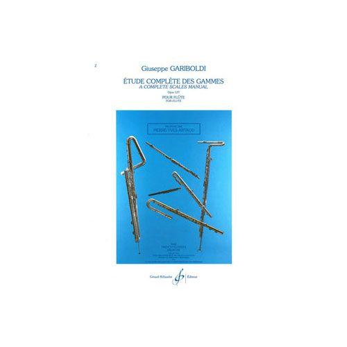 BILLAUDOT GARIBOLDI - ETUDE COMPLETE DES GAMMES OP.127 - FLUTE