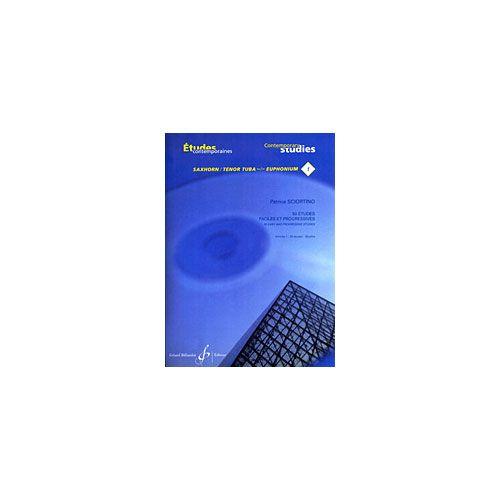 BILLAUDOT SCIORTINO PATRICE - 50 ETUDES FACILES ET PROGRESSIVES SAXHORN/EUPHONIUM VOLUME 1 - ETUDES