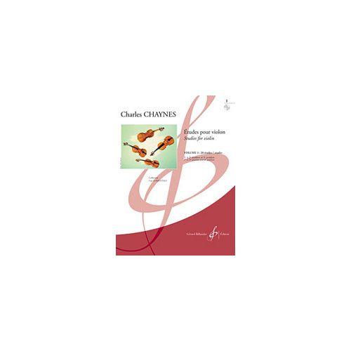 BILLAUDOT CHAYNES CHARLES - ETUDES POUR LE VIOLON VOLUME 1 : 20 ETUDES - ETUDES