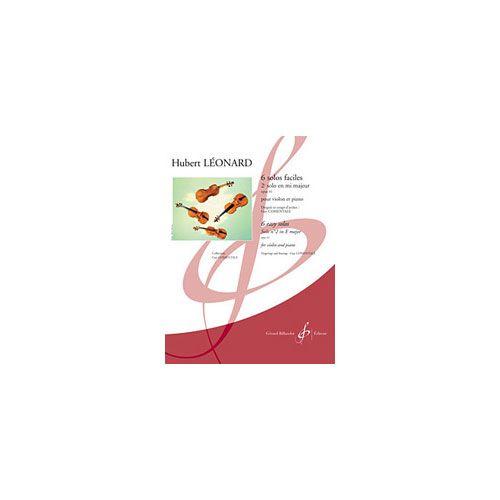 BILLAUDOT LEONARD HUBERT - 6 SOLOS FACILES OP.41 2E SOLO EN MI MAJEUR - VIOLON, PIANO