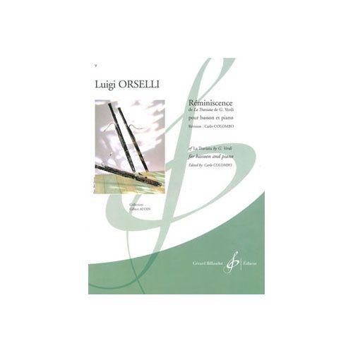 BILLAUDOT ORSELLI LUIGI - REMINISCENCE DE LA TRAVIATA DE G. VERDI - BASSON, PIANO