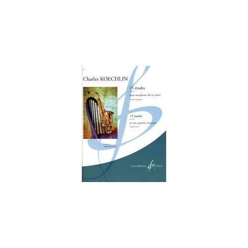BILLAUDOT KOECHLIN, C. - 15 ETUDES OPUS 188 - SAXOPHONE AND PIANO