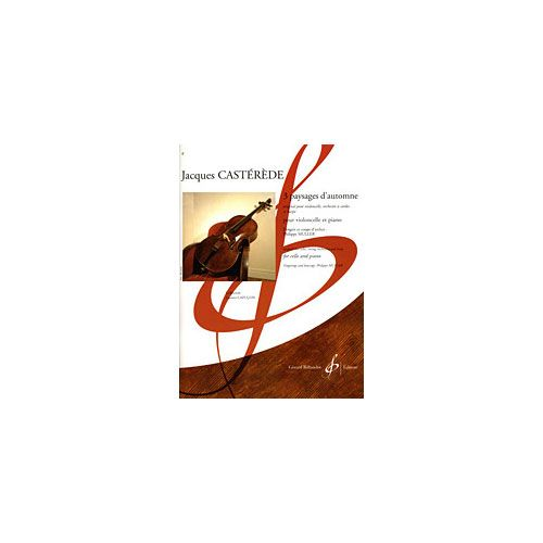 BILLAUDOT CASTEREDE JACQUES - 3 PAYSAGES D'AUTOMNE - VIOLONCELLE, PIANO