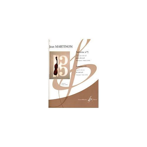 BILLAUDOT MARTINON JEAN - SONATINE N. 5 OPUS 32 N. 1 - ALTO SEUL