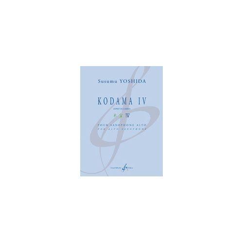 BILLAUDOT YOSHIDA SUSUMU - KODAMA IV - SAXOPHONE ALTO ET PIANO