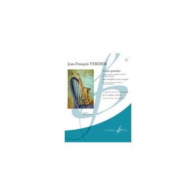 BILLAUDOT VERDIER JEAN-FRANCOIS - CARTES POSTALES + CD - SAXOPHONE EN MI B ET PIANO