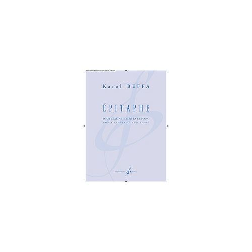 BILLAUDOT BEFFA K. - EPITAPHE - CLARINETTE, PIANO