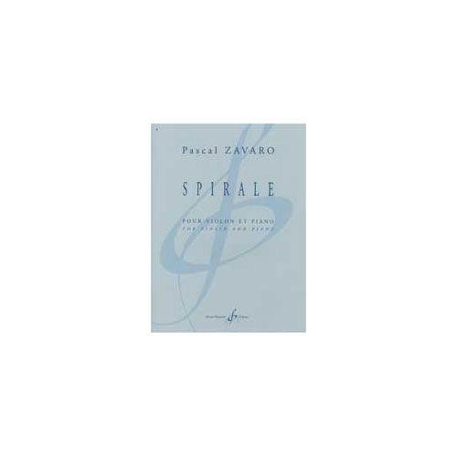 BILLAUDOT ZAVARO PASCAL - SPIRALE - VIOLON ET PIANO