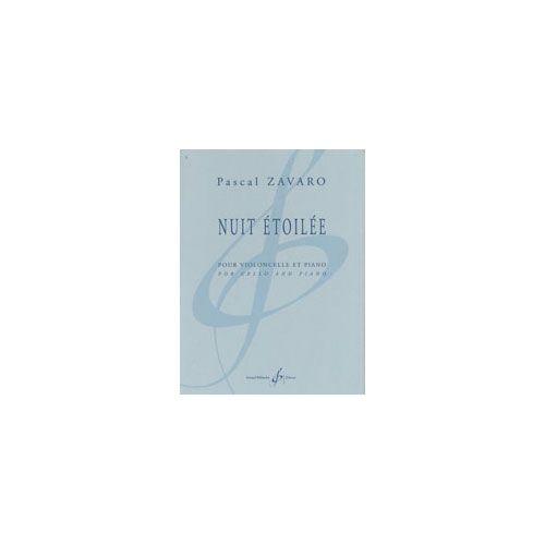 BILLAUDOT ZAVARO PASCAL - NUIT ETOILEE - VIOLONCELLE ET PIANO