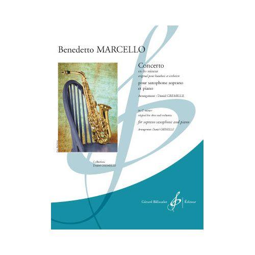 BILLAUDOT MARCELLO B. - CONCERTO EN DO MINEUR - SAXOPHONE SIb ET PIANO