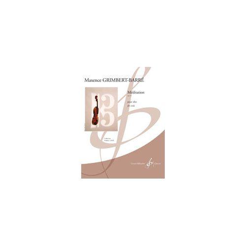 BILLAUDOT GRIMBERT-BARRE MAXENCE - MEDITATION OPUS 22 - ALTO SEUL