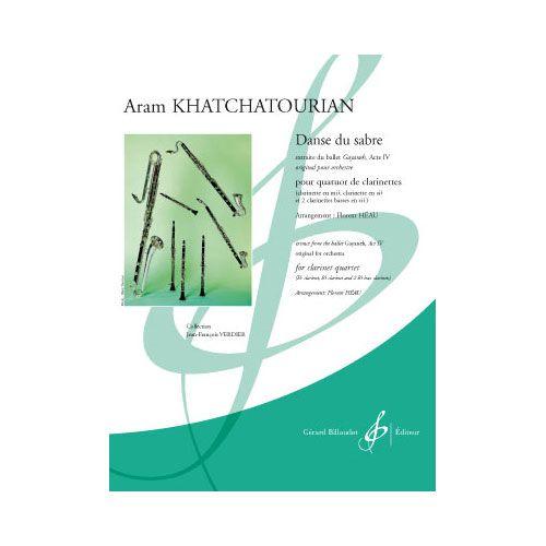 BILLAUDOT KHATCHATOURIAN A. - DANSE DU SABRE - 4 CLARINETTES