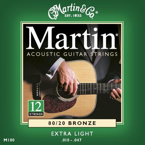 MARTIN GUITARS 180 BRONZE 12 STRINGS X LIGHT 10 47 / 10 27