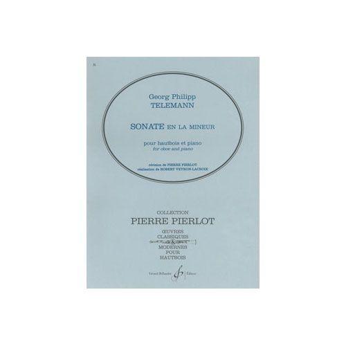 BILLAUDOT TELEMANN GEORG-PHILIPP - SONATE EN LA MINEUR - HAUTBOIS ET PIANO