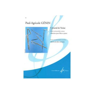 BILLAUDOT GENIN PAUL-AGRICOLE - CARNAVAL DE VENISE OPUS 14 - FLUTE ET PIANO