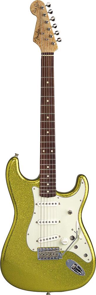 Fender Custom Shop Dick Dale Stratocaster Palissandre Chartreuse Sparkle + Etui