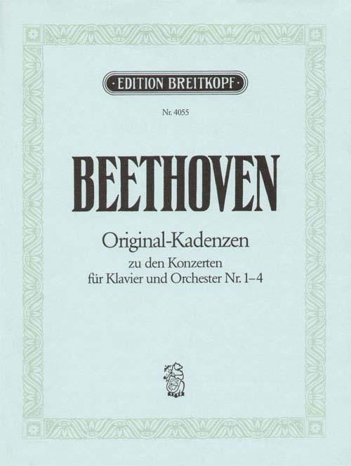 Beethoven Ludwig Van - 8 Kadenzen Zu Den Konzerten Nr.1-4 - Piano