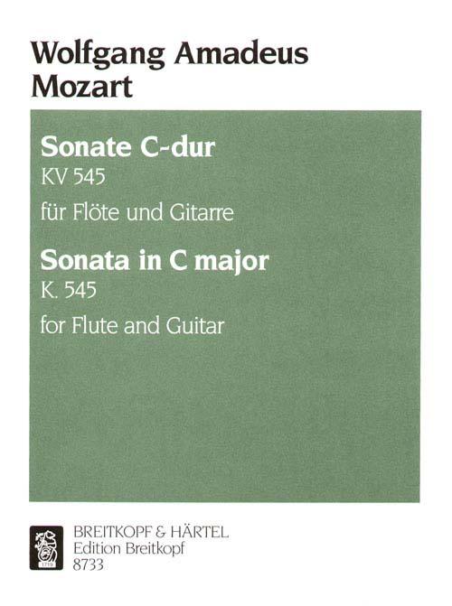 Mozart Wolfgang Amadeus - Sonata C-dur Kv 545 - Flute, Guitar