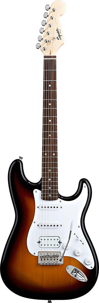 Squier By Fender Stratocaster Hss Brown Sunburst Bullet