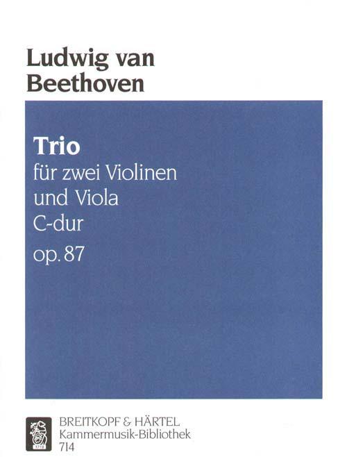 Beethoven Ludwig Van - Trio C-dur Op. 87 - 2 Violin, Viola