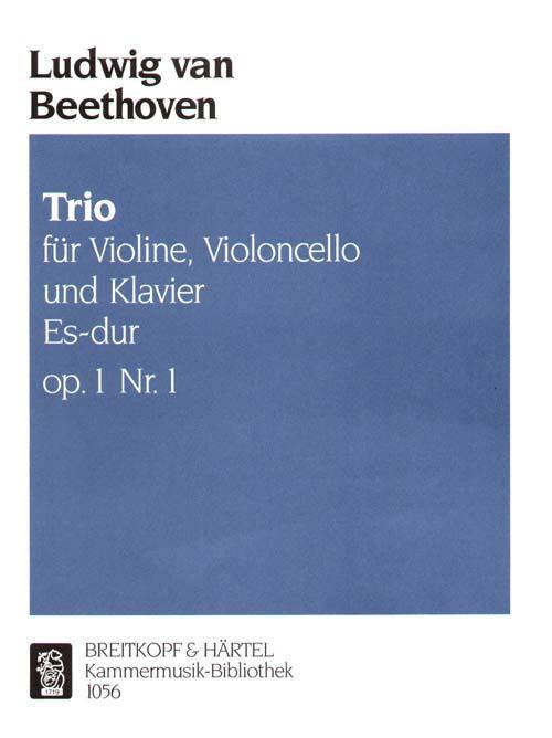 Beethoven Ludwig Van - Klaviertrio Es-dur Op. 1/1 - Violin, Cello, Piano