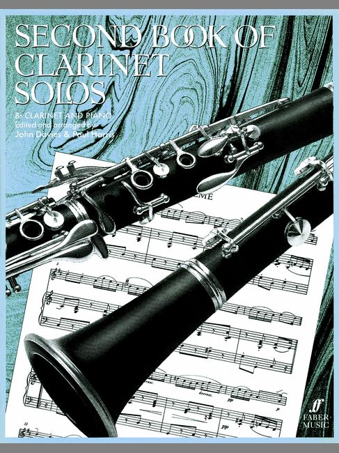 FABER MUSIC DAVIES J / HARRIS P - SECOND BOOK OF CLARINET SOLOS (COMPLETE) - CLARINET AND PIANO