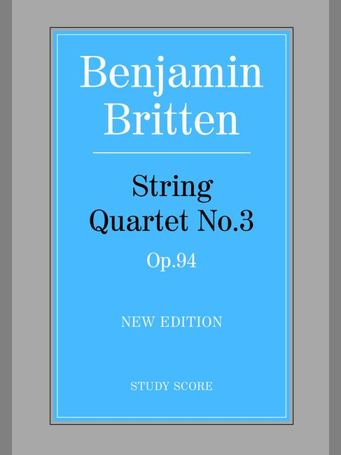 Britten Benjamin - String Quartet No.3 - String Quartet