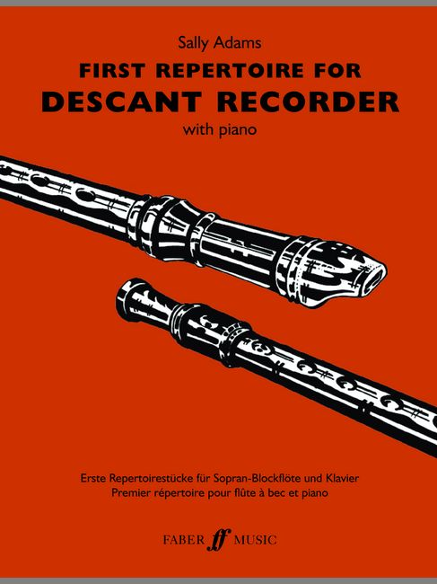 SALLY ADAMS - FIRST REPERTOIRE FOR DESCANT RECORDER