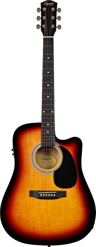 Guitare Electro Acoustique Squier By Fender Sa-105ce - Sunburst