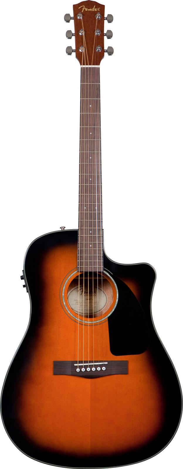 Fender Cd 60 Ce Sunburst V2