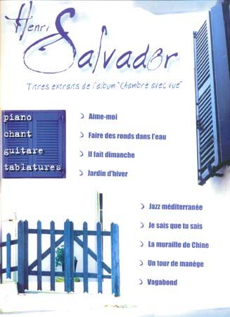Partitions salvador henri chambre avec vue piano for Chambre avec vue henri salvador