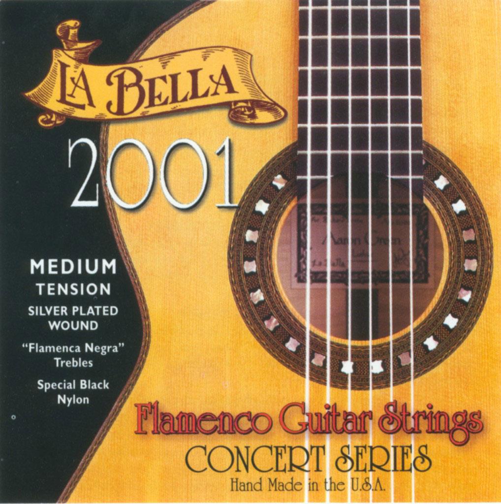 Labella Pack De 12 Cordes ? Flamenco Nylon Noir ? Si 2 ? Concert Serie ? Medium Tension