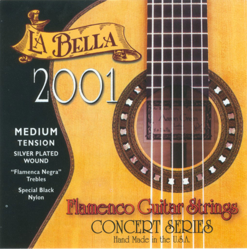 Labella Pack De 12 Cordes ? Flamenco Nylon Noir ? Sol 3 ? Concert Serie ? Medium Tension