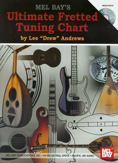 DREW ANDREWS LEE - ULTIMATE FRETTED TUNING CHART + CD - FRETTED