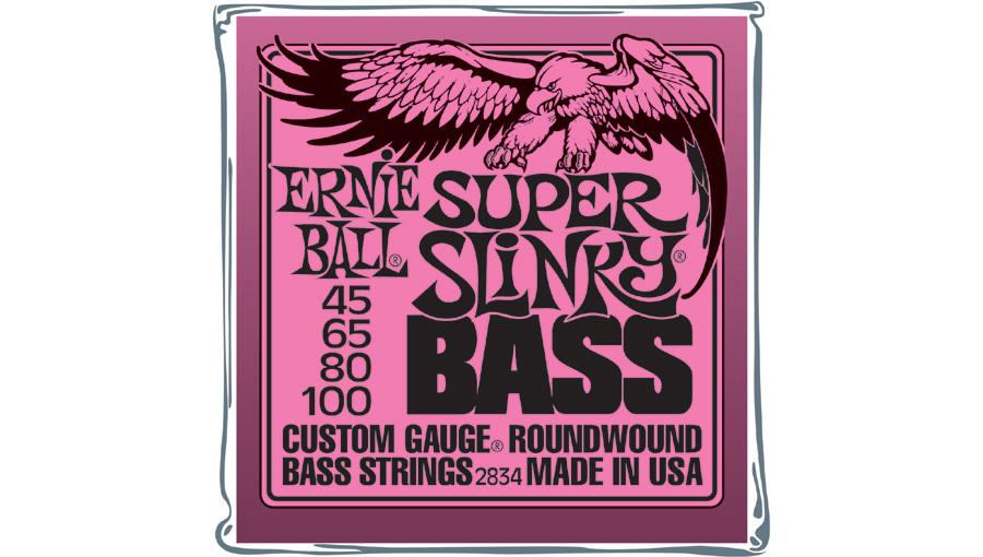 Ernie ball - jeu de cordes guitare basse 2834 - super slinky
