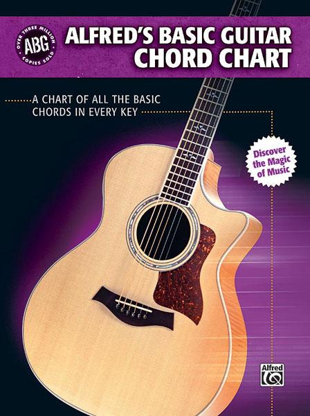 Alfred's Basic Guitar Chord Chart - Guitar